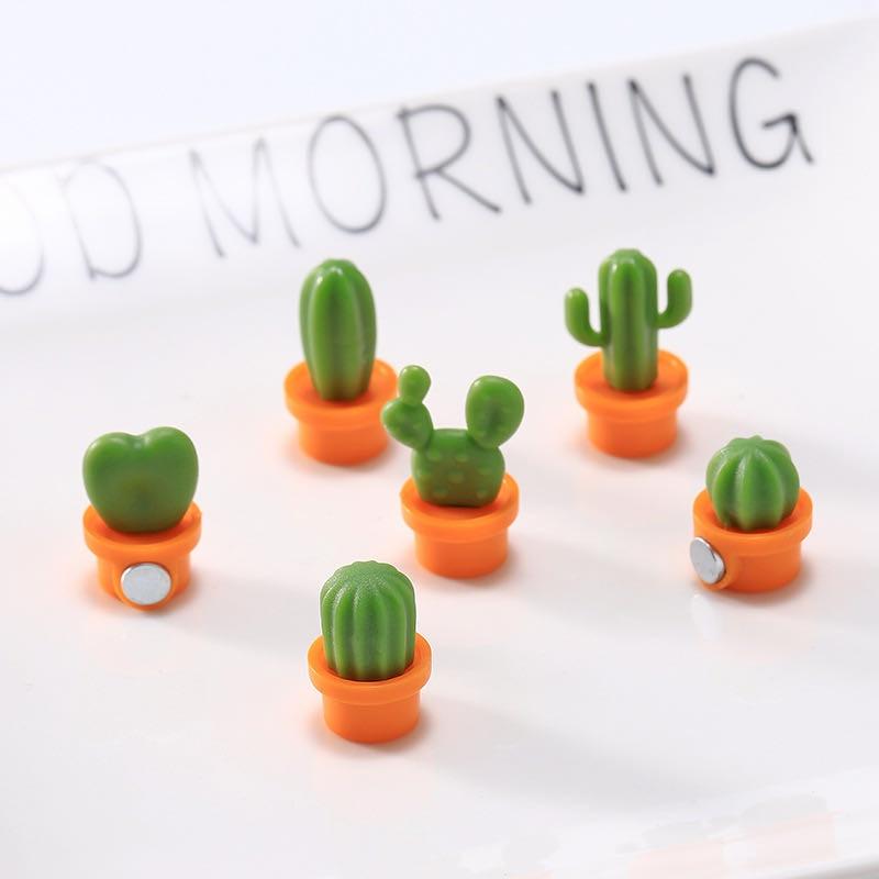 6 uds lindo boton suculento iman incio cocina cacto mensaje para nunca pegatina 2020 nuevas pegatinas portatiles refrigerante