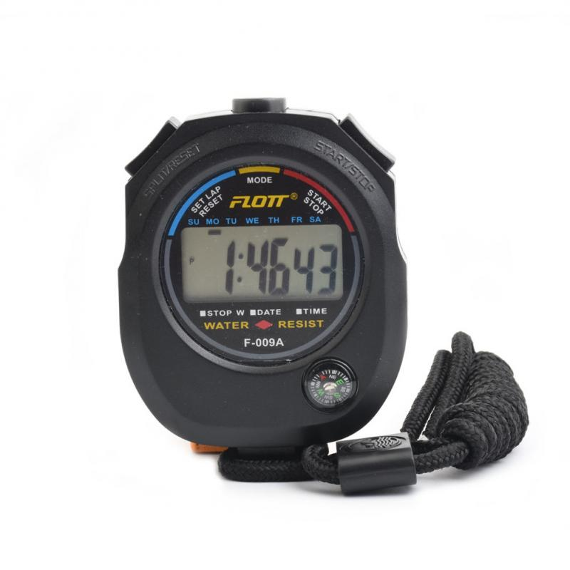 Handheld Digital LCD Chronograph Sports Counter Stopwatch Timer Alarm Stop Watch Professional Track