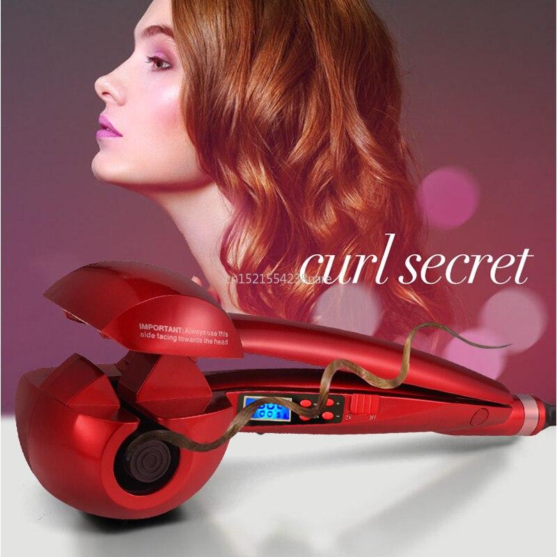 Tela lcd quente automático curling ferro aquecimento cuidados com o cabelo ferramentas de estilo onda cerâmica cabelo curl cabelo mágico