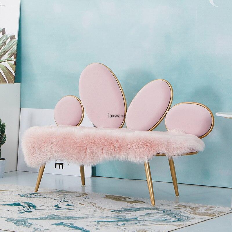 Chaise personnalisée Chaise meubles de maison galets créatifs tissu petit canapé appartement salon nordique luxe Ins Chaise chaises