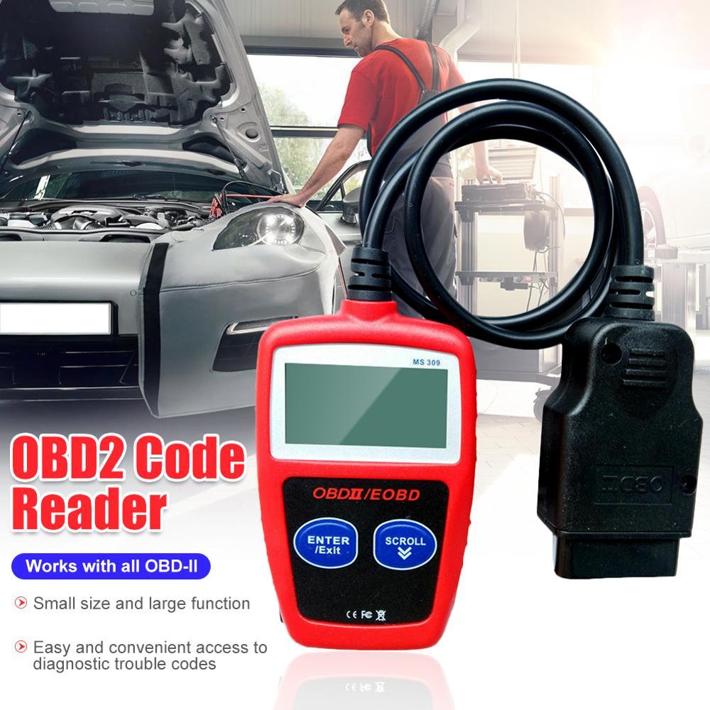 OBD2 lector de código de MS309 escáner OBDII EOBD motor del coche Auto herramienta de diagnóstico del vehículo comprobar la luz del motor de la mayoría de los vehículos