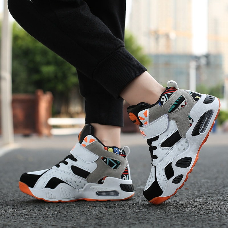 Breathable Soft Lightweight Children's Sports Shoes  Boys Basketball Sneakers  Basketball Shoes Spri