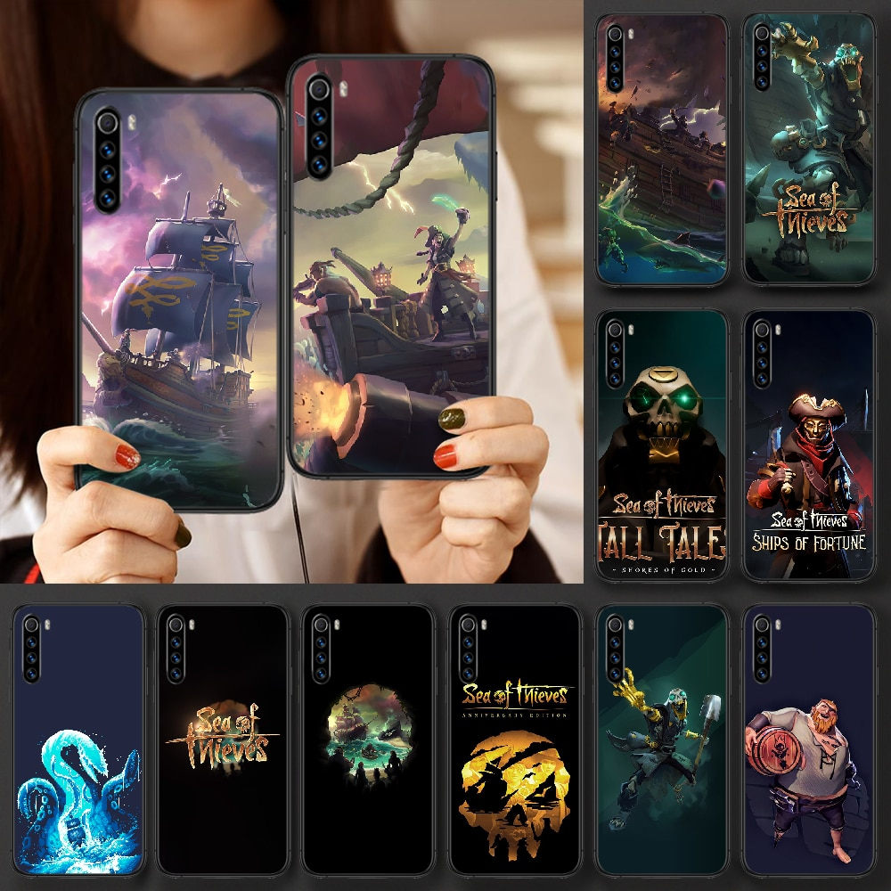 Game Sea Of Thieves Phone case For Xiaomi Redmi Note 7 8 8T 9 9S 4X 7 7A 9A K30 Pro Ultra black coque silicone back tpu hoesjes
