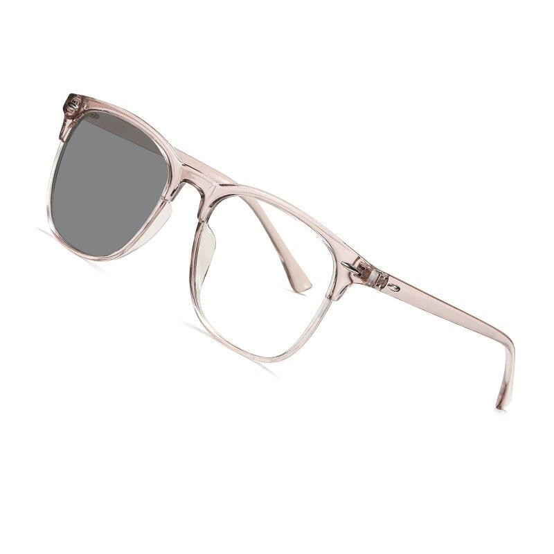 AOFLY BRAND DESIGN Fashion Square Photochromic Sunglasses Women TR90 Flexible Frame Blue Light Blocking Glasses Men Female UV400