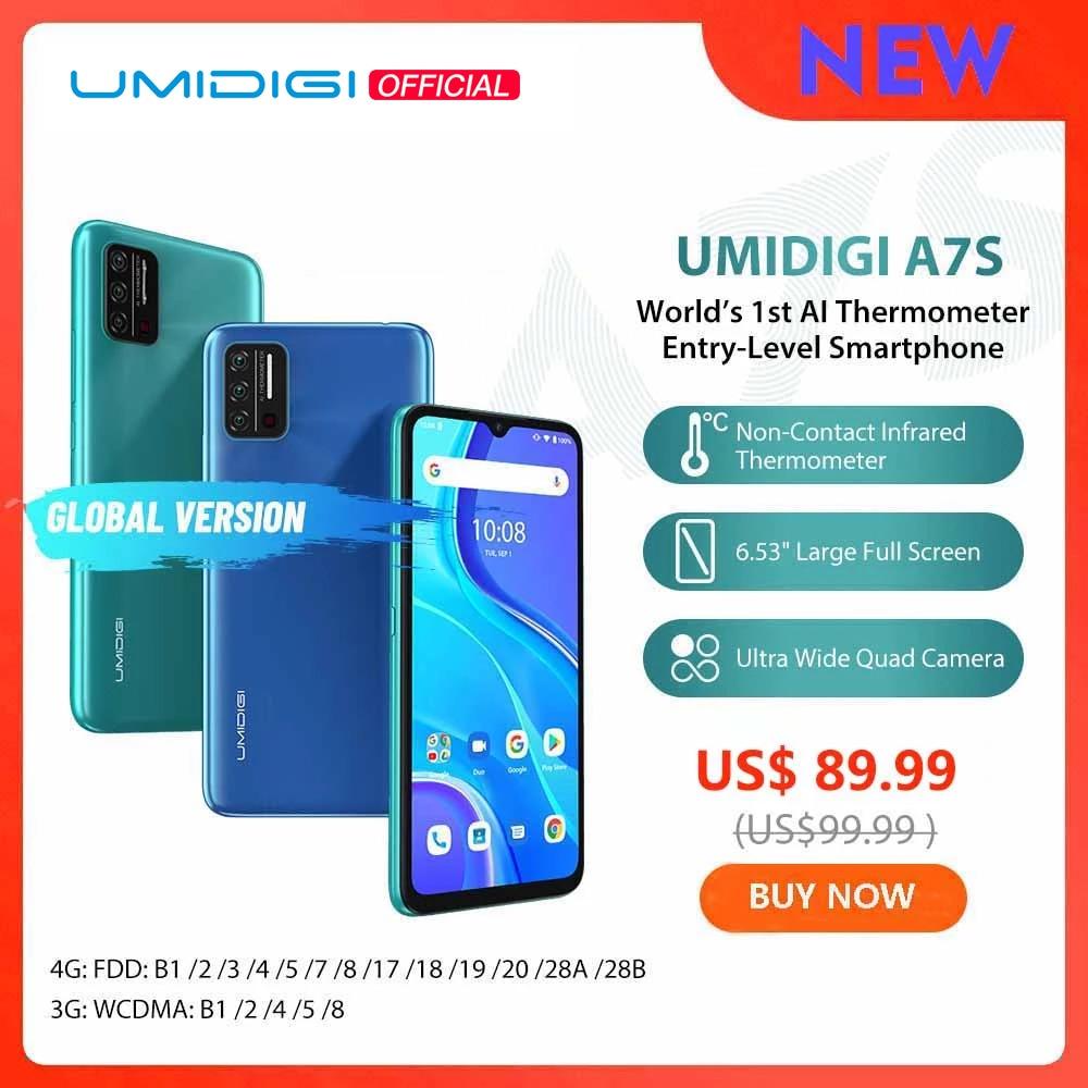 In-Stock UMIDIGI A7S Smart Phone 6.53