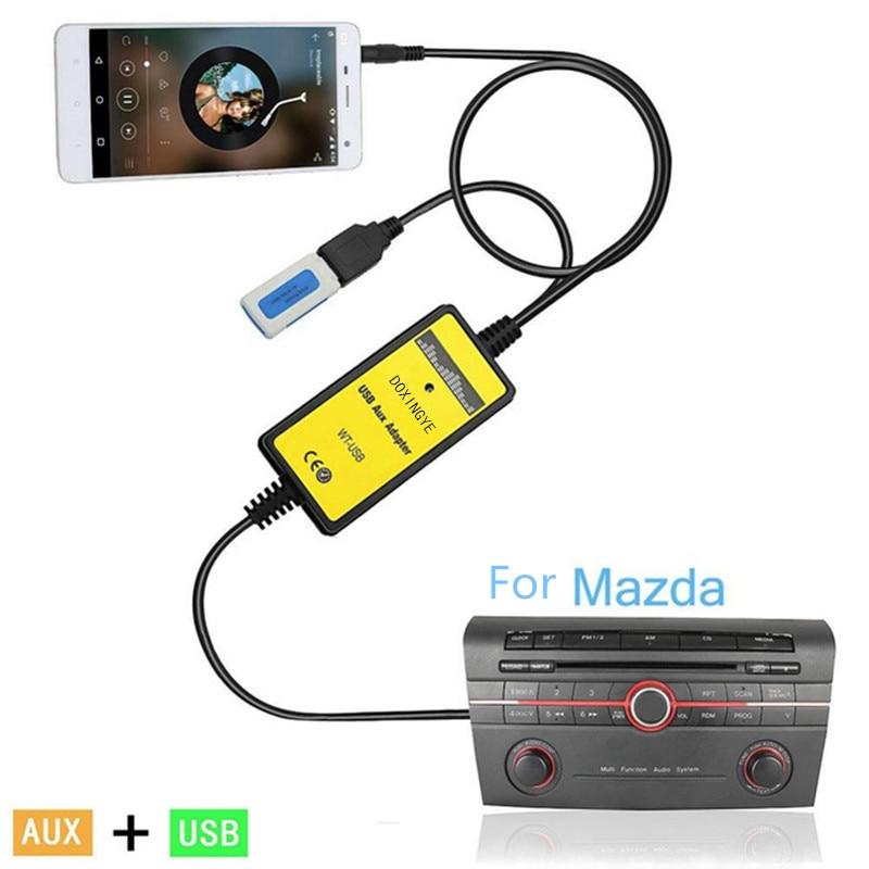 DOXINGYE-محول USB AUX Mp3 للسيارة ، محول موسيقى CD رقمي ، 3.5 مللي متر ، واجهة Mazda 2/3/5/6/CX7/MX5/MPV/Miata