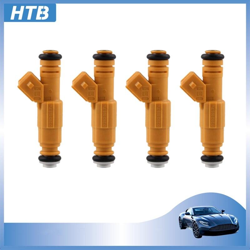 1-4 Pçs/lote Novos Injetores De Combustível 0280155710 0280155700 4 Buraco Bico Para JEEP 1987-1998 SUBSTITUIR F6VE 4.0L A5A EV1 Acessórios Do Carro