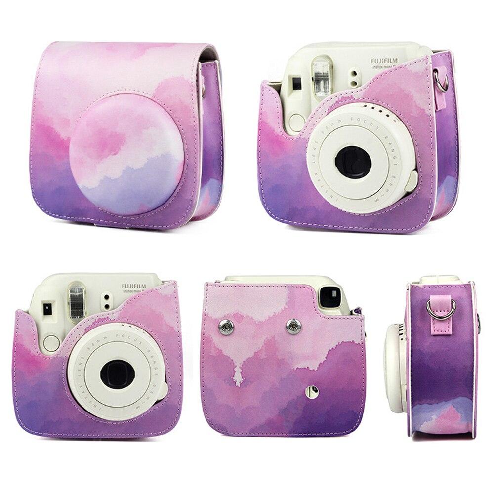 Funda de cuero PU Retro Para Fuji Fujifilm Instax Polaroid Mini 8...