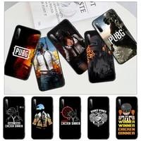 pubg chicken black silicone cell phone case for redmi note 6 8 9 pro max 9s 8t 7 5a 5 4 4x cover