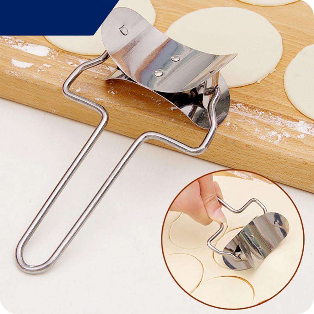 شفرة قطع دائرية للعجين ، جهاز رافيولي لصنع الزلابية ، أداة منزلية يدوية