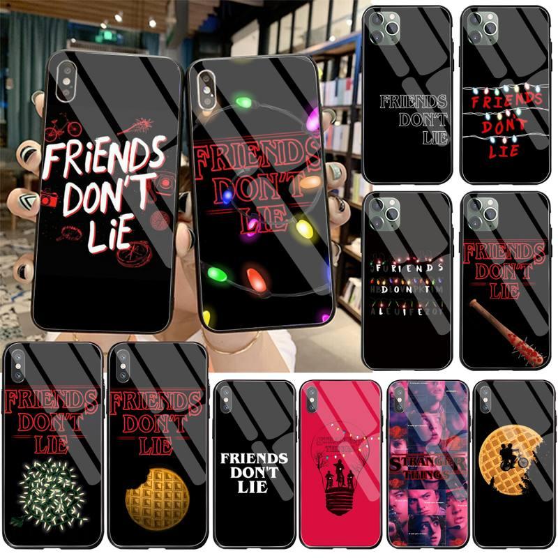 Carcasa de teléfono Dabieshu Friends Dont Lie Strange things, funda de cristal templado para iPhone 11 Pro XR XS MAX 8X7 6S 6 Plus SE 2020