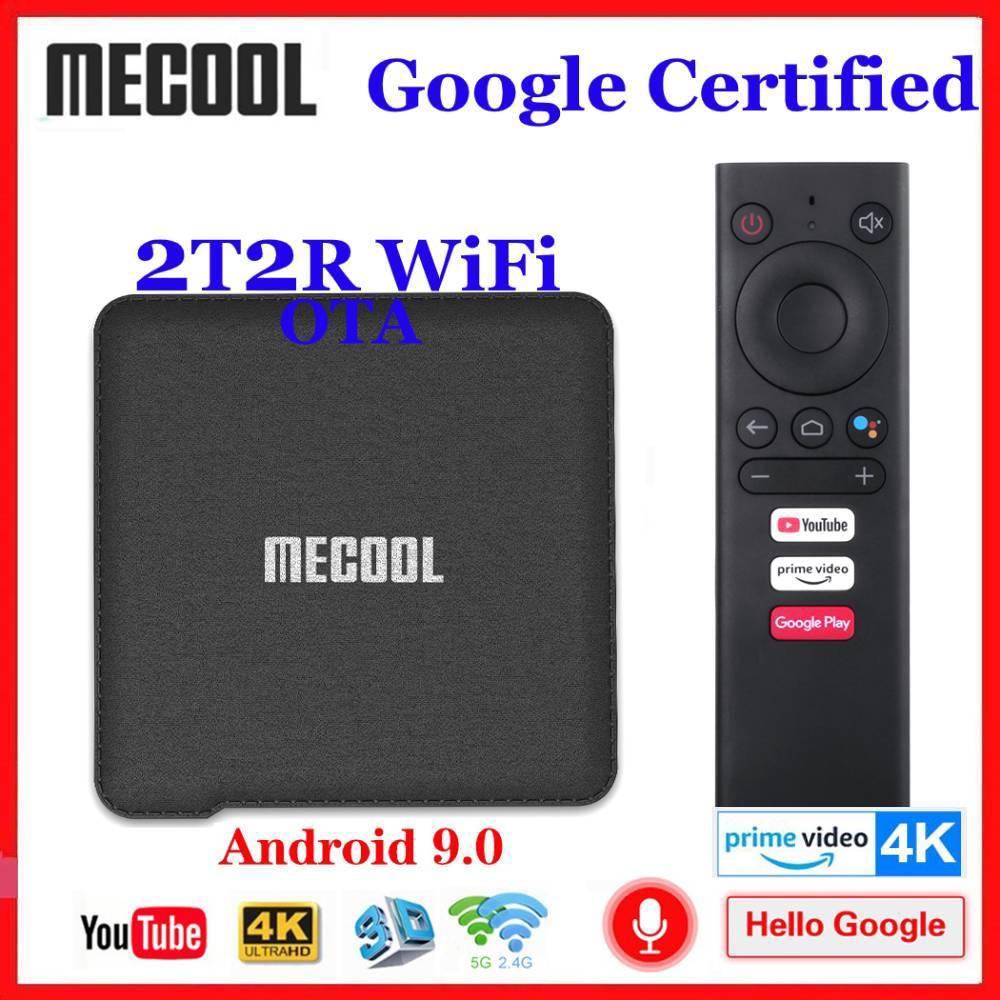 2020 nuevo certificado por Google Mecool KM1 Android 9,0 caja de TV 2T2R WiFi Amlogic S905X3 inteligente Androidtv 4K Media Player primer Video 4K