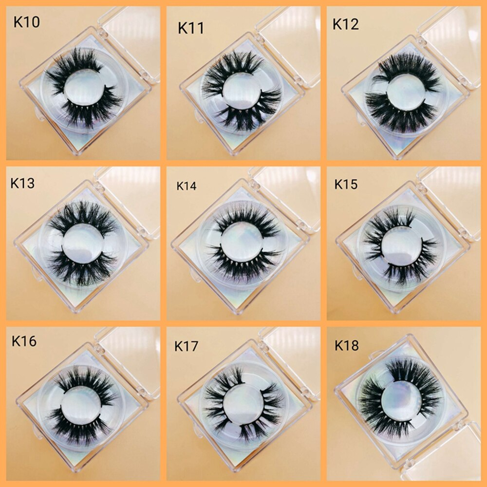 Makeup 5D mink lashes eyelash extension natural length volume eyelashes cruelty-free mink false eyelashes недорого