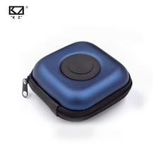 KZ Earphone Square Type PU Case Earphone Case Bag Portable Pressure Shock Absorption Storage Package Headset Earphone Case Box
