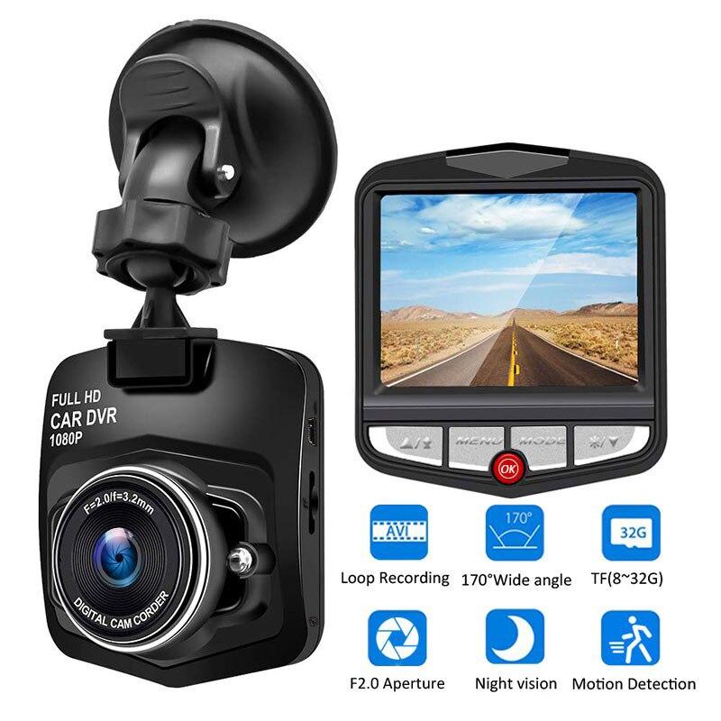 Автомобильный видеорегистратор 1080 HD, Автомобильный видеорегистратор с широким углом обзора 170 градусов, видеорегистратор, камера ночного в...