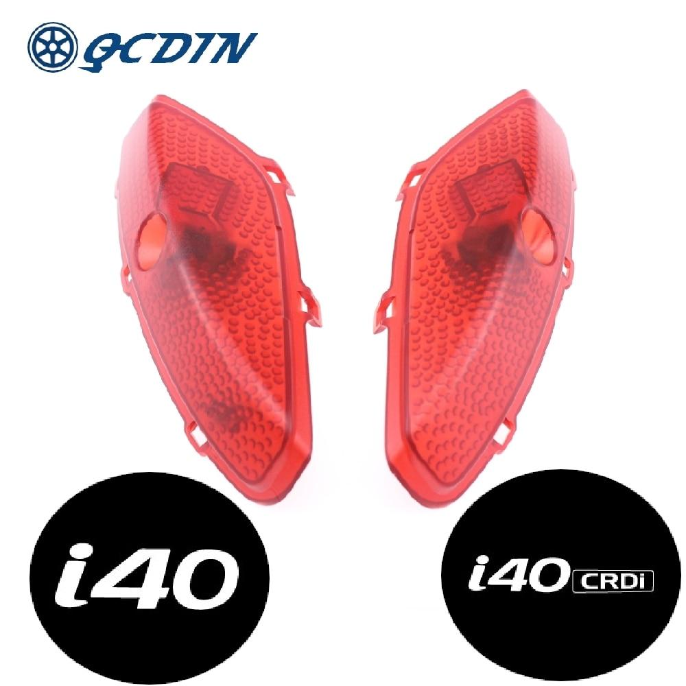 QCDIN لشركة هيونداي i40 LED سيارة ترحيب ضوء الباب شعار كشاف ضوء لشركة هيونداي i40 جميع موديلات السيارات