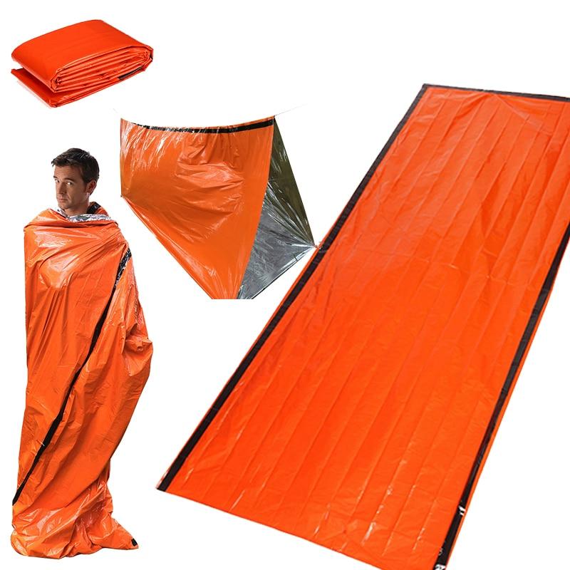 Camping Emergency Sleeping Bag Waterproof Survival Portable Thermal Outdoor