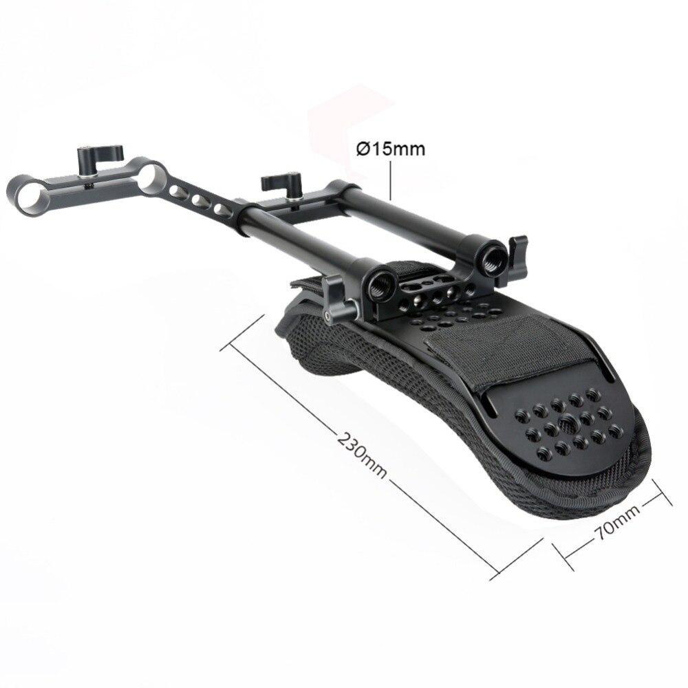 DSLR Camera dslr Camcorder Shoulder Rig Steadycam Video Camera Shoulder Pad with Rail Riser 15mm Rods Accessories enlarge
