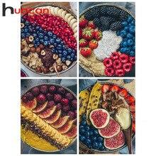 Huacan Diamond Painting Fruit Diamond Art Full Drill Embroidery Food Handmade Gift Mosaic Cross Stitch Wall Art