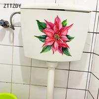 ZTTZDY 23 5    23 2CM Dessin Anime Poinsettia Plante Creative Stickers Muraux Mode Accueil Salle De Bains Toilette Decor T6-0285