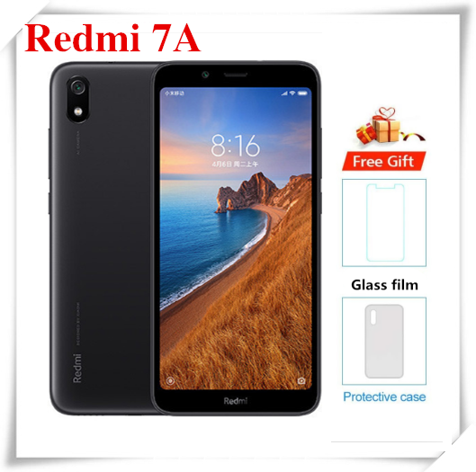 Смартфон Xiaomi Redmi 7A, восемь ядер, экран 439 дюйма, 3 ГБ + 32 ГБ