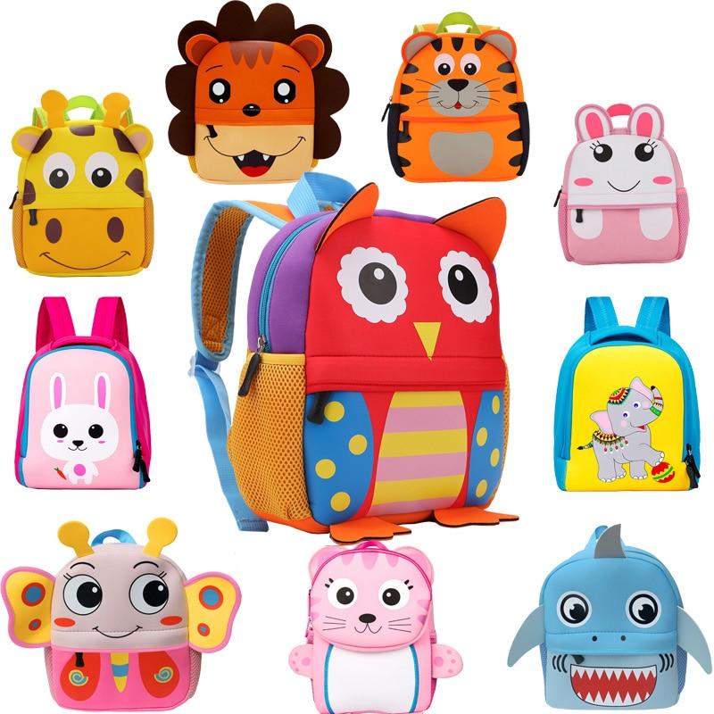 2020 New 3D Children School Bags for Girls Boy Children Backpacks Kindergarten Cartoon Animal Toddle