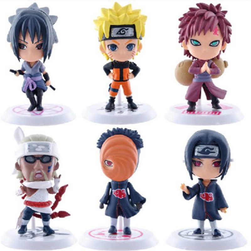 7cm 6 Unids Lote Anime Naruto Figura De Juguete Sasuke Kakashi Sakura Gaara Itachi Obito Madara Asesino Mini Abeja Modelo Muñeca Para Los Niños Figuras De Acción Aliexpress
