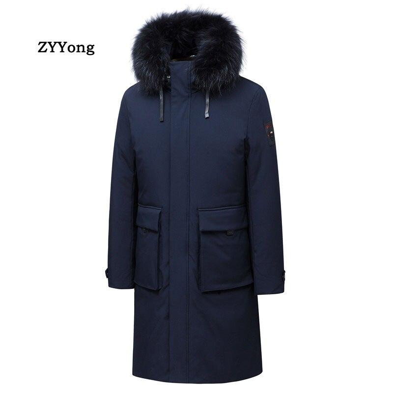 Новинка 2020, зимняя длинная куртка, ветрозащитная мужская хлопковая модная мужская парка, повседневные мужские пальто высокого качества, Му...