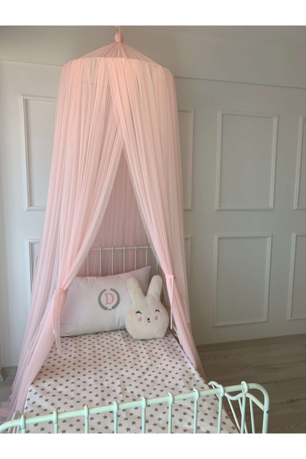 Baby Crib Mosquito Net Tulle Pink (14 Meters) Fly Screen Toddler Infant Crib Bed Cover Protector Made in Turkey