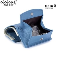 the first layer of cowhide women mini wallet rfid blocking credit card wallets for men short purse with coin pocket real leather