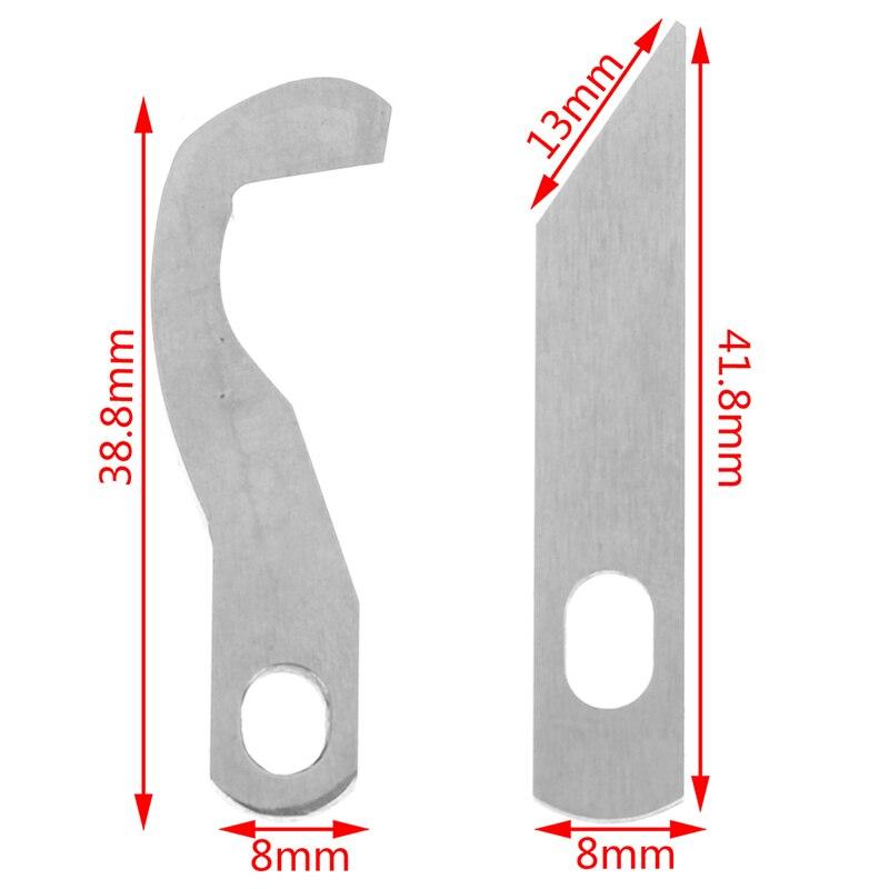 2 unids/set hoja Overlock-superior e inferior Compatible para 925D 929D 1034D XB0563001 + X77683001 5BB5014
