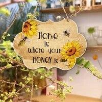 Ornements en bois  decoration de paysage de maison  decoration de ruche  pendentifs artisanaux  maison douce  maison est ou se trouve votre miel