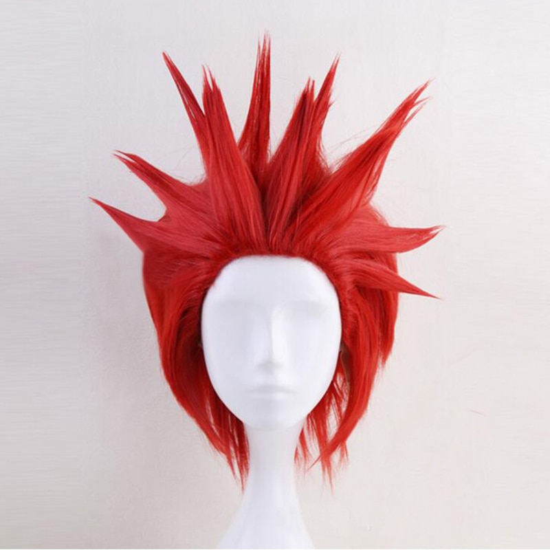 My Boku no Hero Academia Eijirou Kirishima Eijiro Wig Short Red Heat Resistant Cosplay Costume Wigs + Wig Cap
