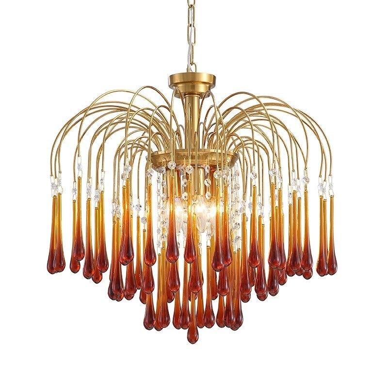 مصباح سقف مزجج على الطراز الإيطالي القديم ، مصباح سقف وردي بتصميم قديم ، مثالي لغرفة المعيشة أو غرفة النوم أو المدخل أو الردهة.