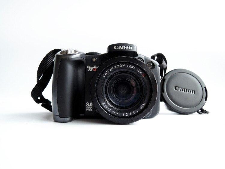 Cámara Digital Canon PowerShot serie Pro S5 IS 8.0MP usada con Zoom óptico estabilizado de 12x