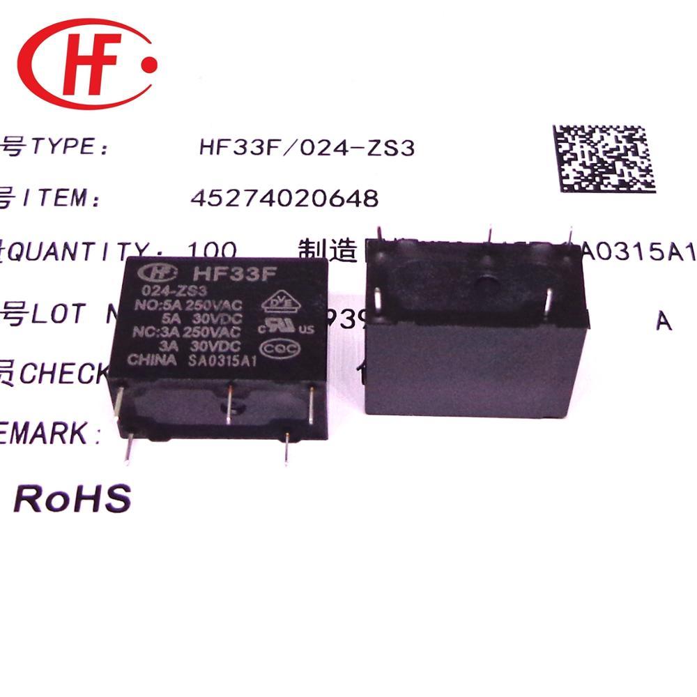 20 قطعة/السلع HF تتابع JZC-33F HF33F 005 012 024 -ZS3 HF33F 5V 12V 24V 5A 5PIN تتابع جديدة ومبتكرة