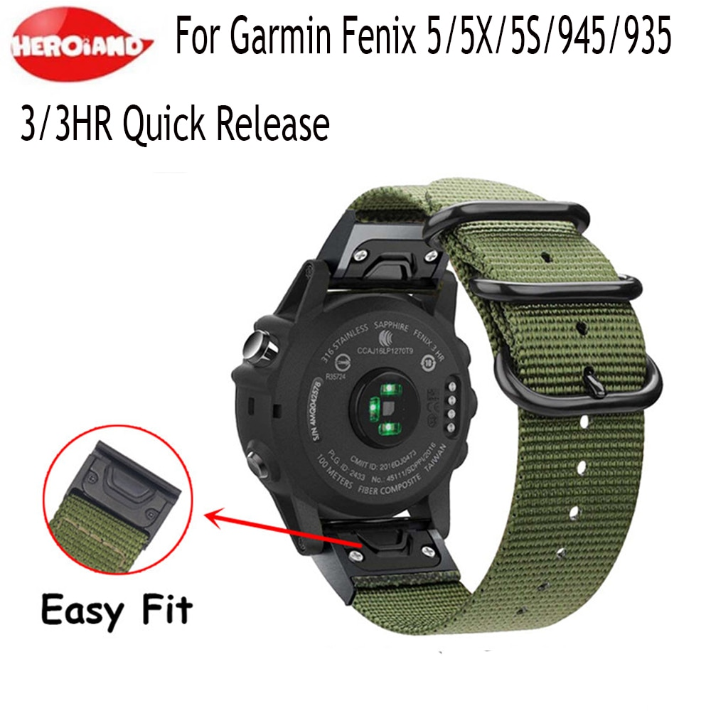 milanese loop band for garmin fenix 5s watch strap quick release stainless steel link bracelet watchband for garmin fenix 5s 26 22 20MM Watchband Strap for Garmin Fenix 5X 5 5S 3 3HR Plus Forerunner 935/945 Watch Quick Release Nylon canvas Wrist Band