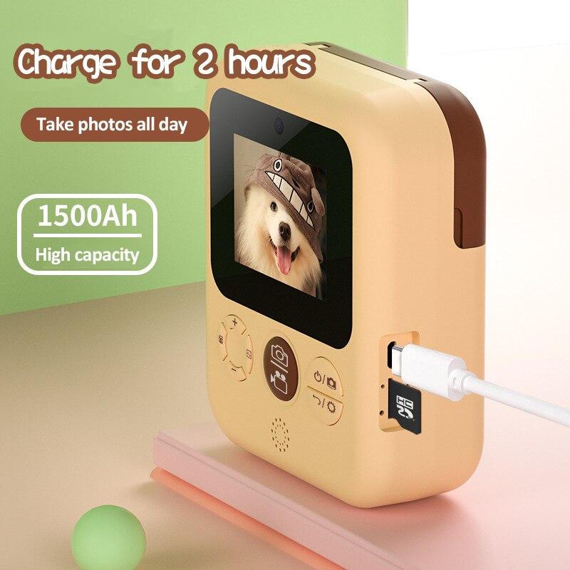 crianças 1080p câmera digital com papéis de
