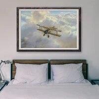 T115     peinture classique retro operations de vol davion de guerre 49  affiche en soie personnalisee  decoration murale  cadeau de noel