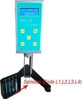 NDJ-1S Portable Rotational Viscometer Digital LCD Oil Paint Viscosity Measurement with RTD Temp Probe Viscosimeter Meter