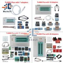 TL866II Plus programmeur universel Minipro + adaptateurs 7/10/17/28 SOP8 IC Clip TL866 PIC Bios Flash haute vitesse EPROM programmeur