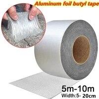 5 20cm aluminum foil butyl rubber tape stop leak stick waterproof repair nano tape self adhesive for roof hose repair flex tape