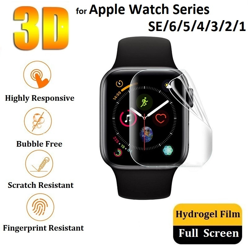 hydrogel protection film for apple watch screen protector iwatch 6 5 4 3 2 1 se series watch film 38mm 40mm 42mm 44mm soft glass 3D Hydrogel Protective Film for iWatch 6 SE 5 4 44mm 40mm (Not Glass) for Apple Watch 3 2 1 42mm 38mm Screen Protector Film Foil