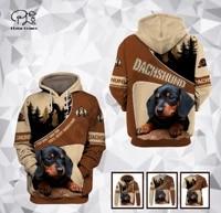 plstar cosmos 3dprint newest dachshund dog pet harajuku premium streetwear funny unisex unique casual hoodiessweatshirtzip t 6