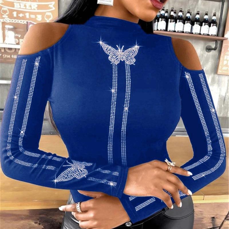 Vintage Hueco Venda Camisetas De Manga Lrga Streetwear Mariposa párr Mujer Ropa...
