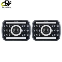 ruitaisen 5x7 7x6 inch led rectangle headlight turn signal high low beam h4 plug offroad led chips headlight for jeep