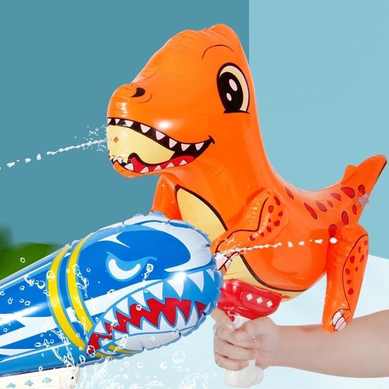 Tiburón/dinosaurio lindo pistola de agua Super Blasters Soaker de largo alcance Squirt Gun juguetes de alta capacidad de lucha de agua de verano y juguetes familiares