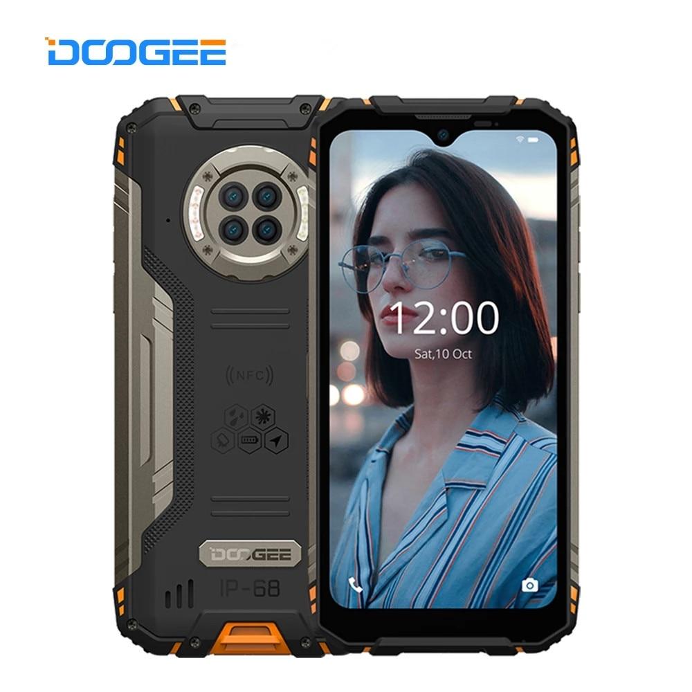 DOOGEE S96 Pro Прочный Android 10,0 мобильный телефон 6,22 дюйм IP68 Водонепроницаемый, смартфон, четыре ядра, 8 + 128 Гб мобильный телефон 48MP NFC 6350 мАч