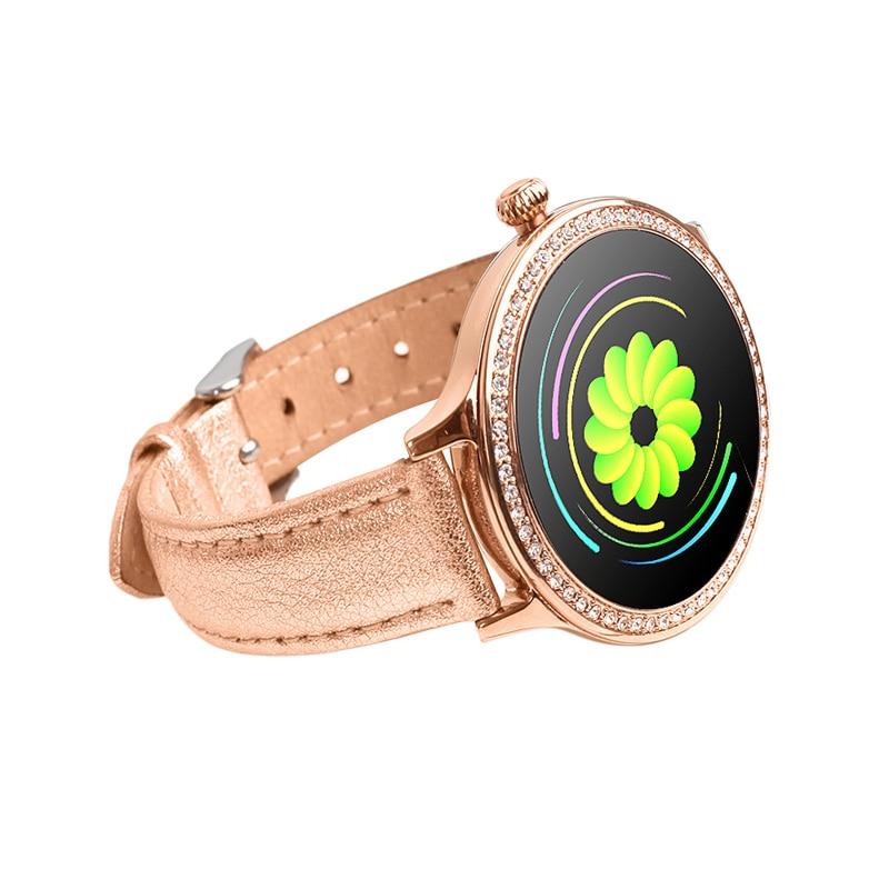 Woman Smart Watch Color Screen Sport Tracker IP68 Waterproof Heart Rate Blood Pressure Female Physio