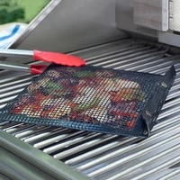 fiberglass pefe tegflon non stick mesh grilling bag mats non stick bbq bake bag outdoor picnic baking barbecue cooking tools